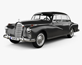 3D model of Mercedes-Benz 300d (W189) 1957