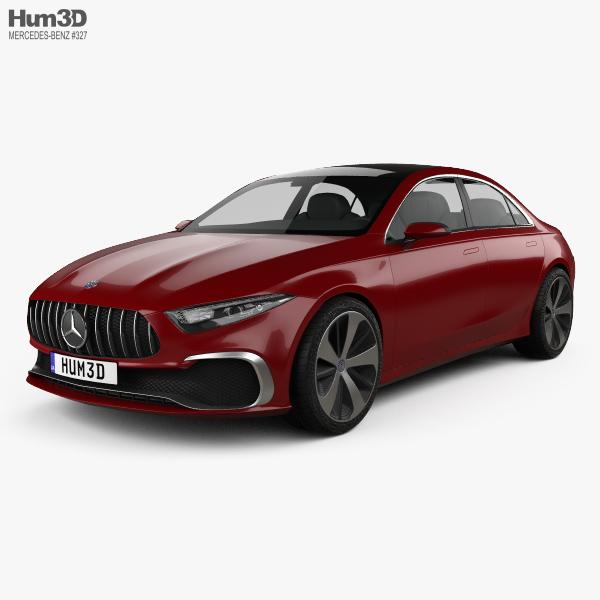 Mercedes-Benz A Sedan concept 2017 3D model