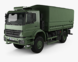 3D model of Mercedes-Benz Axor (1828A) Military Truck 2005