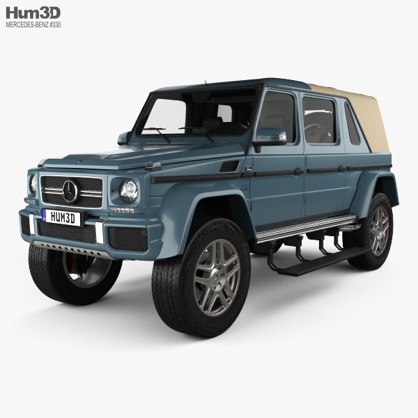 3D model of Mercedes-Benz G-class (W463) Maybach Landaulet with HQ interior 2017