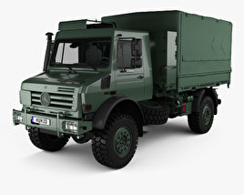 3D model of Mercedes-Benz Unimog U5000 Military Truck 2002