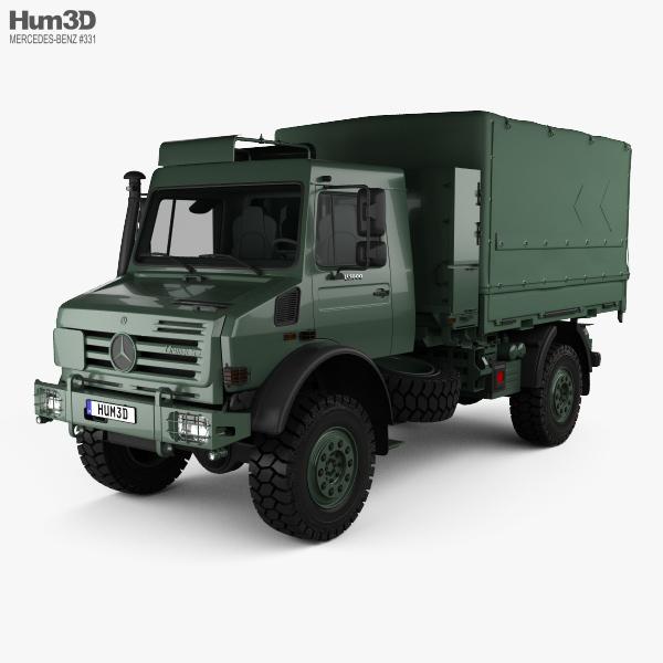 3D model of Mercedes-Benz Unimog U5000 Military Truck 2002