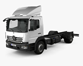 3D model of Mercedes-Benz Atego (1530) M-Cab Chassis Truck 2013