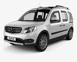 3D model of Mercedes-Benz Citan Tourer Off-Road 2016