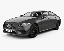 3D model of Mercedes-Benz CLS-class (C257) AMG Line 2018
