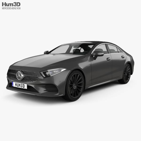 3D model of Mercedes-Benz CLS-class (C257) AMG Line 2018