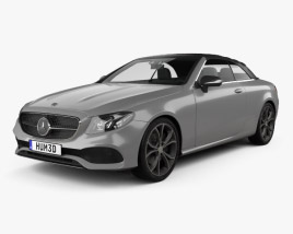 3D model of Mercedes-Benz E-class (A238) cabriolet 2016