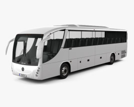 3D model of Mercedes-Benz B330 Bus 2015