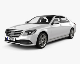 3D model of Mercedes-Benz S-class (V222) 2017