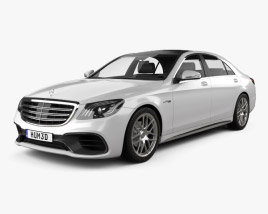 3D model of Mercedes-Benz S-class (V222) AMG 2017