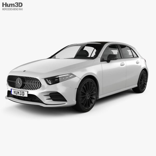 Mercedes-Benz A-class (W177) AMG Line 2018 3D model