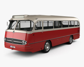 3D model of Mercedes-Benz O-321 H Bus 1954