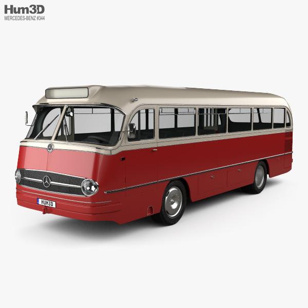3D model of Mercedes-Benz O-321 H Bus 1954