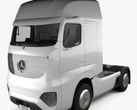 3D model of Mercedes-Benz Future Truck with HQ interior 2025