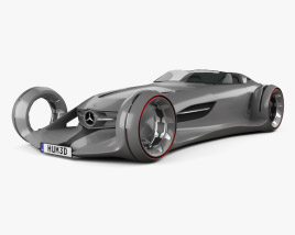 3D model of Mercedes-Benz Silver Arrow 2016