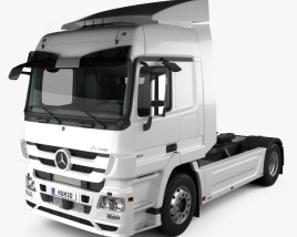 3D model of Mercedes-Benz Actros Tractor Truck 2-axle with HQ interior 2009