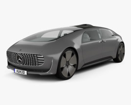 3D model of Mercedes-Benz F 015 with HQ interior 2015