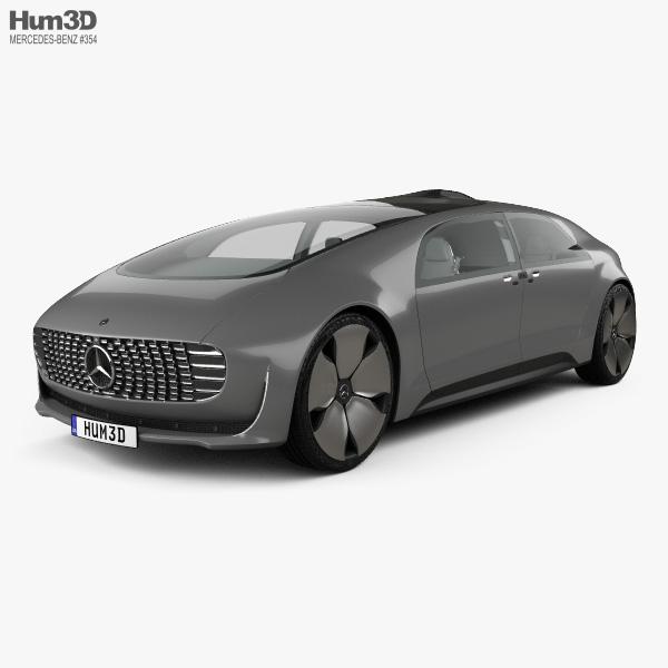Mercedes-Benz F 015 with HQ interior 2015 3D model