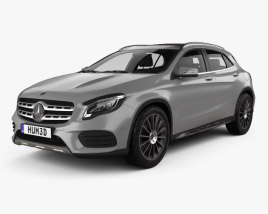 3D model of Mercedes-Benz GLA-class AMG Line with HQ interior 2017