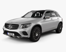3D model of Mercedes-Benz GLC-class (X205) AMG Line with HQ interior 2015