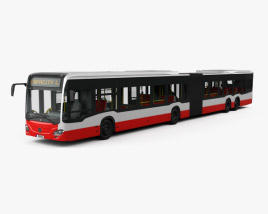 3D model of Mercedes-Benz CapaCity L 5-door Bus with HQ interior 2014