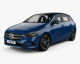 3D model of Mercedes-Benz B-Class (W247) 2019