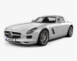 3D model of Mercedes-Benz SLS-class with HQ interior 2011