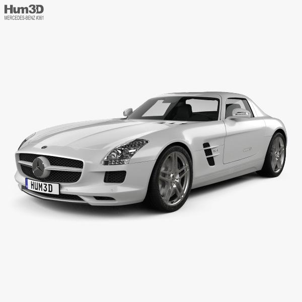 Mercedes-Benz SLS-class with HQ interior 2011 3D model