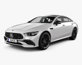 3D model of Mercedes-Benz AMG GT53 4-door coupe 2019