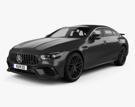 3D model of Mercedes-Benz AMG GT63 S 4-door coupe 2019