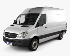 3D model of Mercedes-Benz Sprinter Panel Van SWB HR 2006