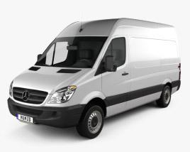 3D model of Mercedes-Benz Sprinter Panel Van SWB HR 2006