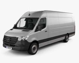 3D model of Mercedes-Benz Sprinter Panel Van L4H2 2019