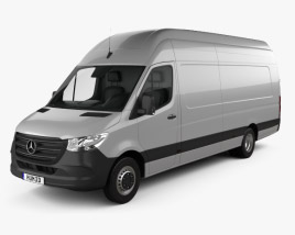 3D model of Mercedes-Benz Sprinter Panel Van L4H3 2019