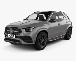 3D model of Mercedes-Benz GLE-class AMG Line 2019