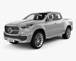 3D model of Mercedes-Benz X-class Stylish Explorer with HQ interior 2017