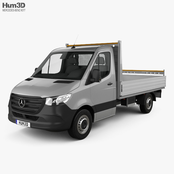 Mercedes-Benz Sprinter (W907) Single Cab Dropside L2 2019 3D model