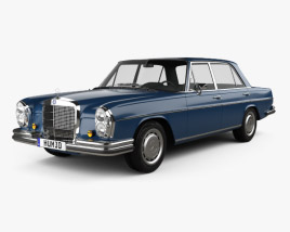 3D model of Mercedes-Benz 280 SEL 1972
