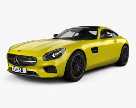 3D model of Mercedes-Benz AMG GT with HQ interior 2014