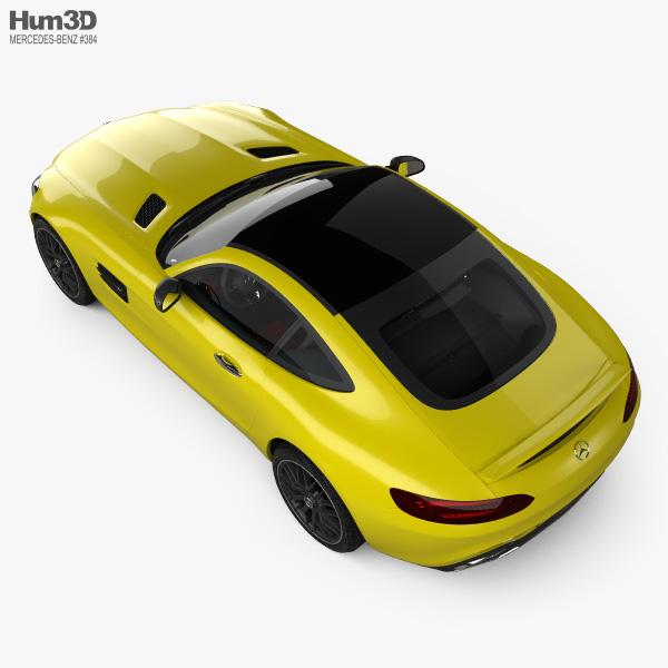 Mercedes-Benz AMG GT with HQ interior 2014 3D model