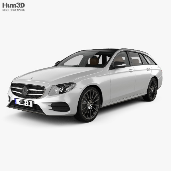 Mercedes-Benz E-class AMG-Line estate with HQ interior 2016 3D model