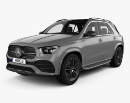 3D model of Mercedes-Benz GLE-class AMG-Line with HQ interior 2019