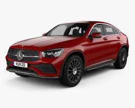 3D model of Mercedes-Benz GLC-class AMG-Line coupe 2019