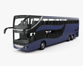 3D model of Mercedes-Benz MCV 800 Double-Decker Bus 2019