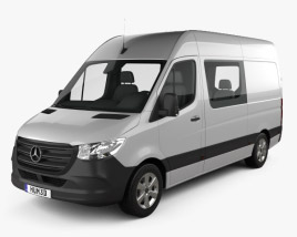 3D model of Mercedes-Benz Sprinter Crew Van L2H2 2019