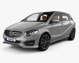 3D model of Mercedes-Benz B-class Urban Line with HQ interior 2014