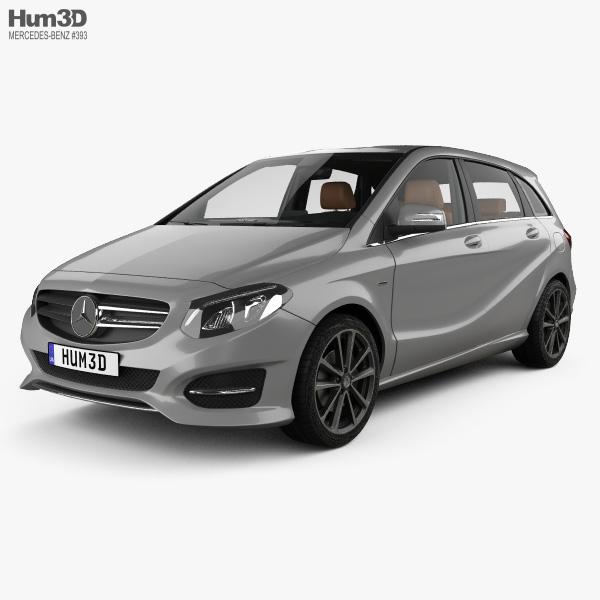 3D model of Mercedes-Benz B-class Urban Line with HQ interior 2014