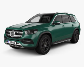 3D model of Mercedes-Benz GLS-class 2019