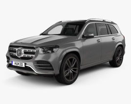 3D model of Mercedes-Benz GLS-class AMG-Line 2019