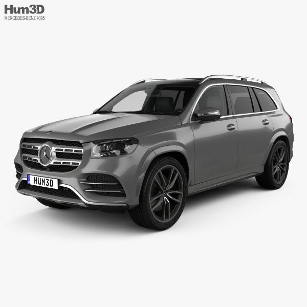 3D model of Mercedes-Benz GLS-class AMG-Line 2019
